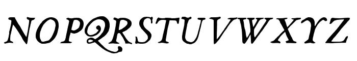 JMHLegajo-Italic Font UPPERCASE