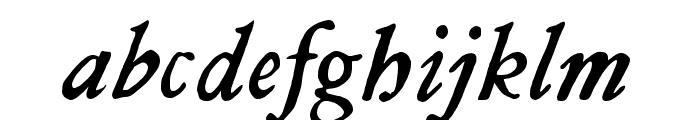 JMHLegajo-Italic Font LOWERCASE