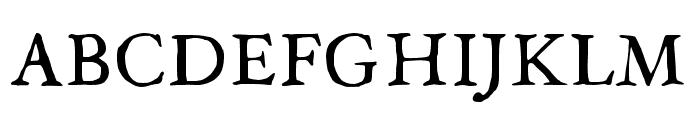JMHLegajo-Regular Font UPPERCASE