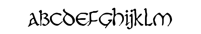 JMHMoreneta-Regular Font LOWERCASE