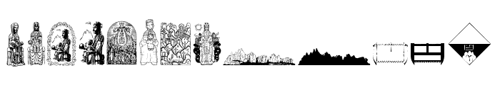 JMHMorenetaDingbats-Regular Font LOWERCASE