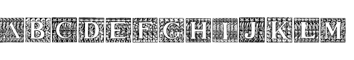 JMHMorenetaINI-Regular Font UPPERCASE