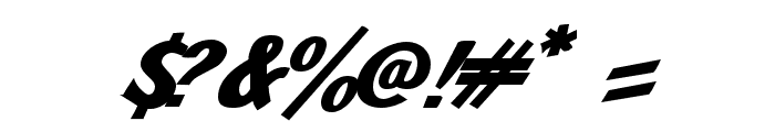 JMHPulpPaperback-BoldItalic Font OTHER CHARS