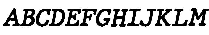 JMHTypewriter-BoldItalic Font UPPERCASE