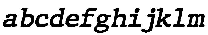 JMHTypewriter-BoldItalic Font LOWERCASE