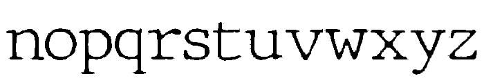 JMHTypewriter-Thin Font LOWERCASE