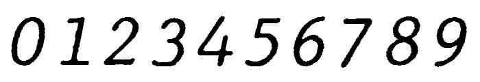 JMHTypewritermono-Italic Font OTHER CHARS