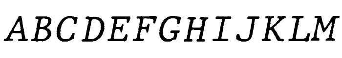 JMHTypewritermono-Italic Font UPPERCASE