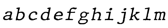 JMHTypewritermono-Italic Font LOWERCASE