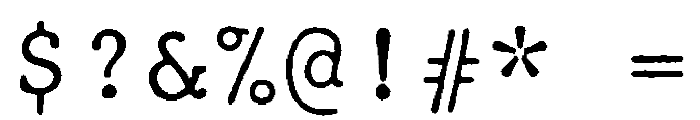JMHTypewritermono-Regular Font OTHER CHARS