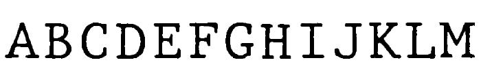 JMHTypewritermono-Regular Font UPPERCASE