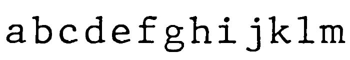 JMHTypewritermono-Regular Font LOWERCASE