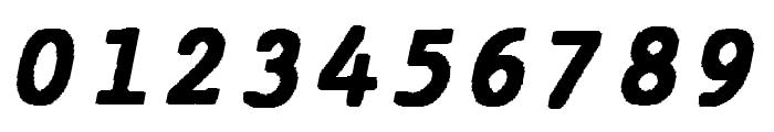 JMHTypewritermonoBlack-Italic Font OTHER CHARS