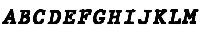 JMHTypewritermonoBlack-Italic Font UPPERCASE