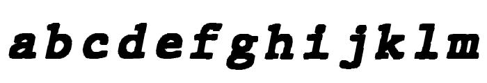 JMHTypewritermonoBlack-Italic Font LOWERCASE