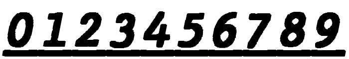 JMHTypewritermonoBlackUnder-Ita Font OTHER CHARS