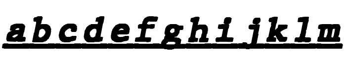 JMHTypewritermonoBlackUnder-Ita Font LOWERCASE