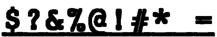 JMHTypewritermonoBlackUnder-Reg Font OTHER CHARS