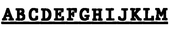 JMHTypewritermonoBlackUnder-Reg Font UPPERCASE