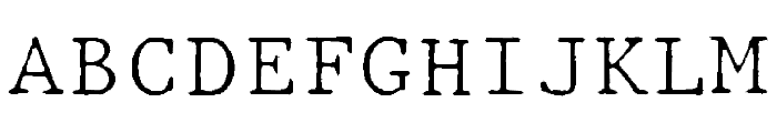 JMHTypewritermonoFine-Regular Font UPPERCASE