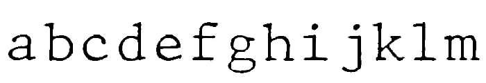 JMHTypewritermonoFine-Regular Font LOWERCASE