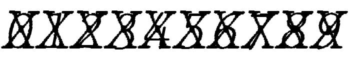 JMHTypewritermonoFineCross-Ital Font OTHER CHARS