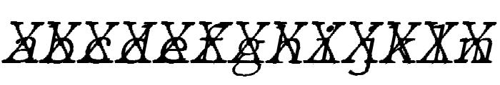 JMHTypewritermonoFineCross-Ital Font LOWERCASE