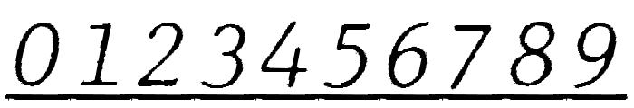 JMHTypewritermonoFineUnder-Ital Font OTHER CHARS