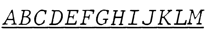 JMHTypewritermonoFineUnder-Ital Font UPPERCASE