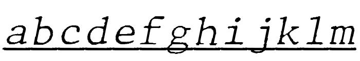JMHTypewritermonoFineUnder-Ital Font LOWERCASE