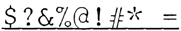 JMHTypewritermonoFineUnder-Regu Font OTHER CHARS