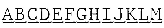 JMHTypewritermonoFineUnder-Regu Font UPPERCASE