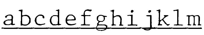 JMHTypewritermonoFineUnder-Regu Font LOWERCASE