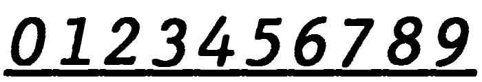 JMHTypewritermonoUnder-Italic Font OTHER CHARS