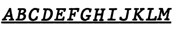 JMHTypewritermonoUnder-Italic Font UPPERCASE
