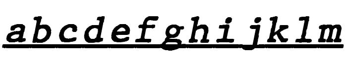 JMHTypewritermonoUnder-Italic Font LOWERCASE