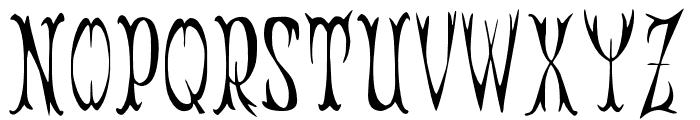 JMHZarracenaAlt-Regular Font UPPERCASE