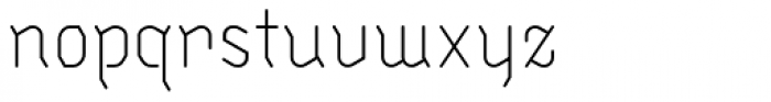 JMTF Robin 9 Thin Font LOWERCASE