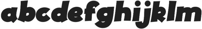 JollyGood Proper Black Italic otf (900) Font LOWERCASE