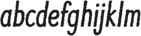 JollyGood Proper Condensed Rough Italic otf (400) Font LOWERCASE