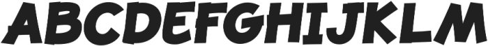 JollyGood Proper ExtraBold Italic otf (700) Font UPPERCASE