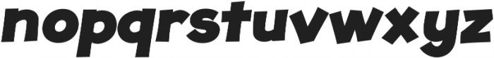 JollyGood Proper ExtraBold Italic otf (700) Font LOWERCASE
