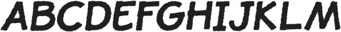 JollyGood Proper Rough Bold Italic otf (700) Font UPPERCASE