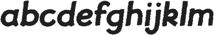 JollyGood Proper Rough Bold Italic otf (700) Font LOWERCASE