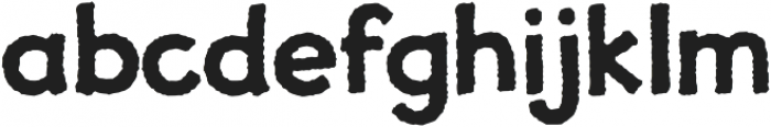 JollyGood Proper Rough Bold otf (700) Font LOWERCASE