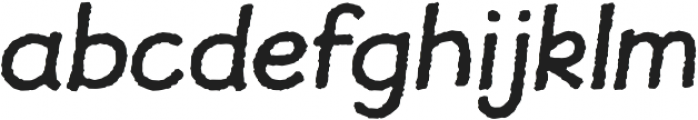 JollyGood Proper Rough Italic otf (400) Font LOWERCASE