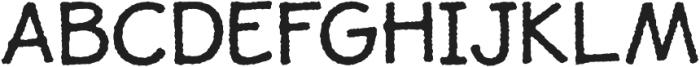 JollyGood Proper Rough otf (400) Font UPPERCASE