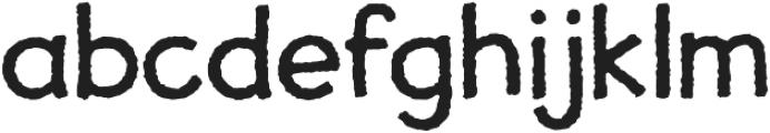 JollyGood Proper Rough otf (400) Font LOWERCASE