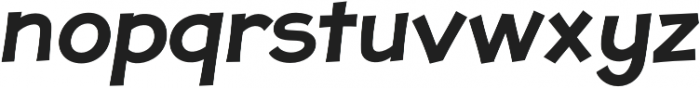 JollyGood Proper SemiBold Italic otf (600) Font LOWERCASE