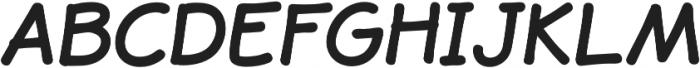 JollyGood Sans Bold Italic otf (700) Font UPPERCASE